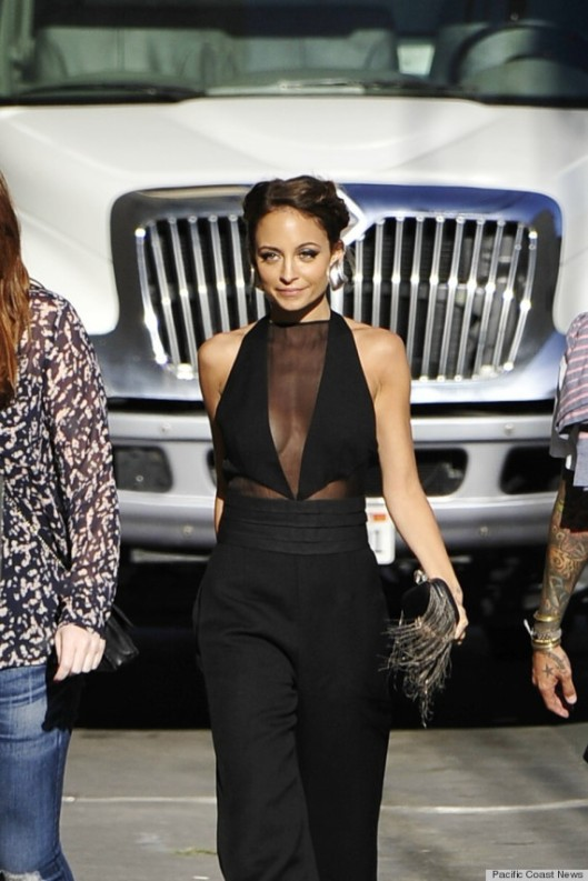 Nicole Richie shows off her flawless figure as she arrives for the 'Jimmy Kimmel Live!' show in Hollywood